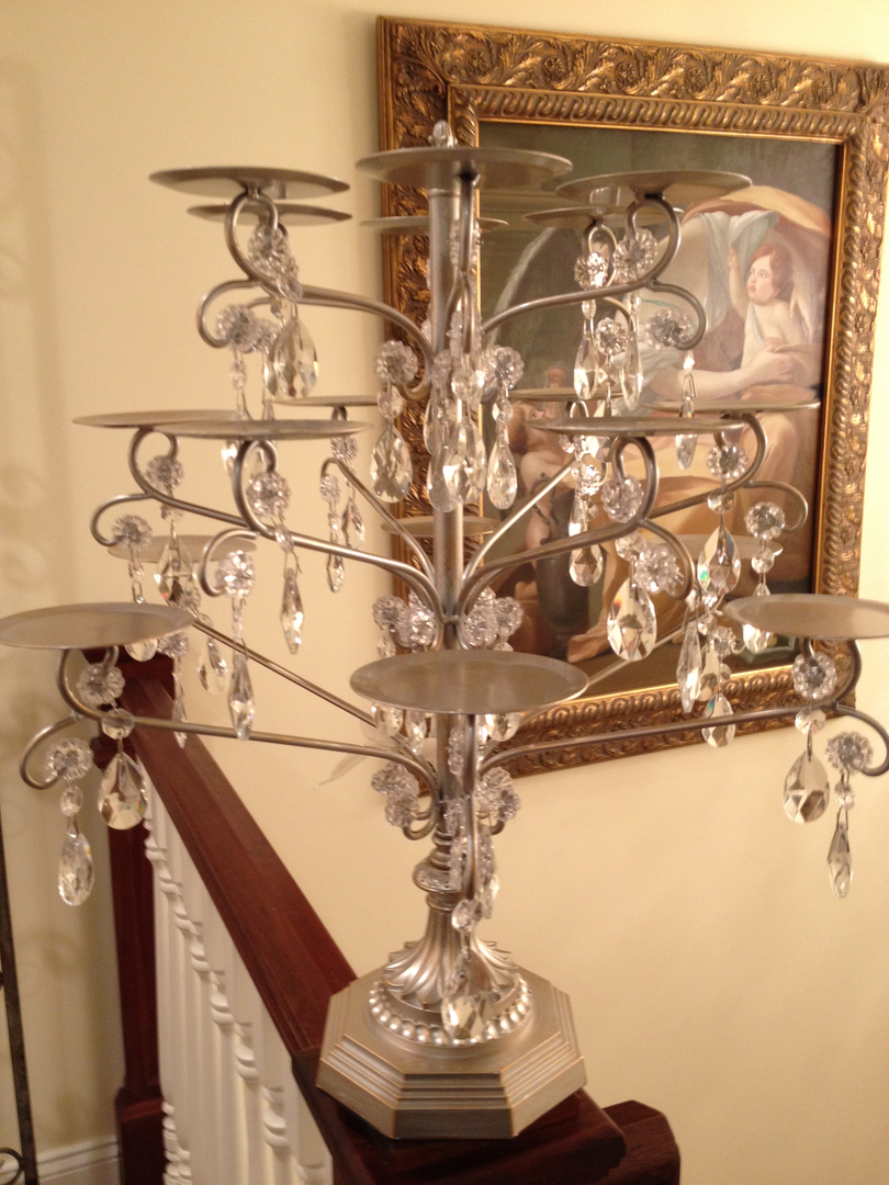 Cupcake Towers Stands - Cupcake chandelier stand crystals