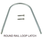 Round Rail Loop Latch Hardware - Western Red Cedar Wood Fencing Company In Chicago