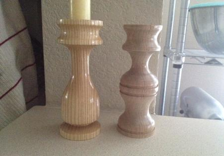 Maple and Ash candle holders
