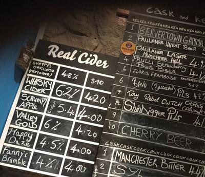 Wide Selection of Real Ales and Ciders in Ramsbottom