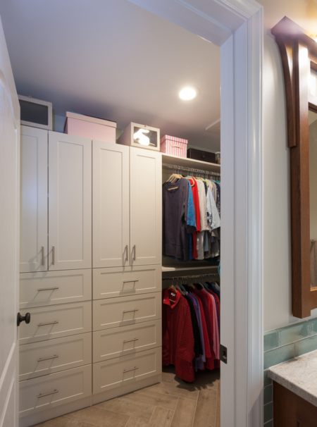 Custom closet system from Showplace Wood Products