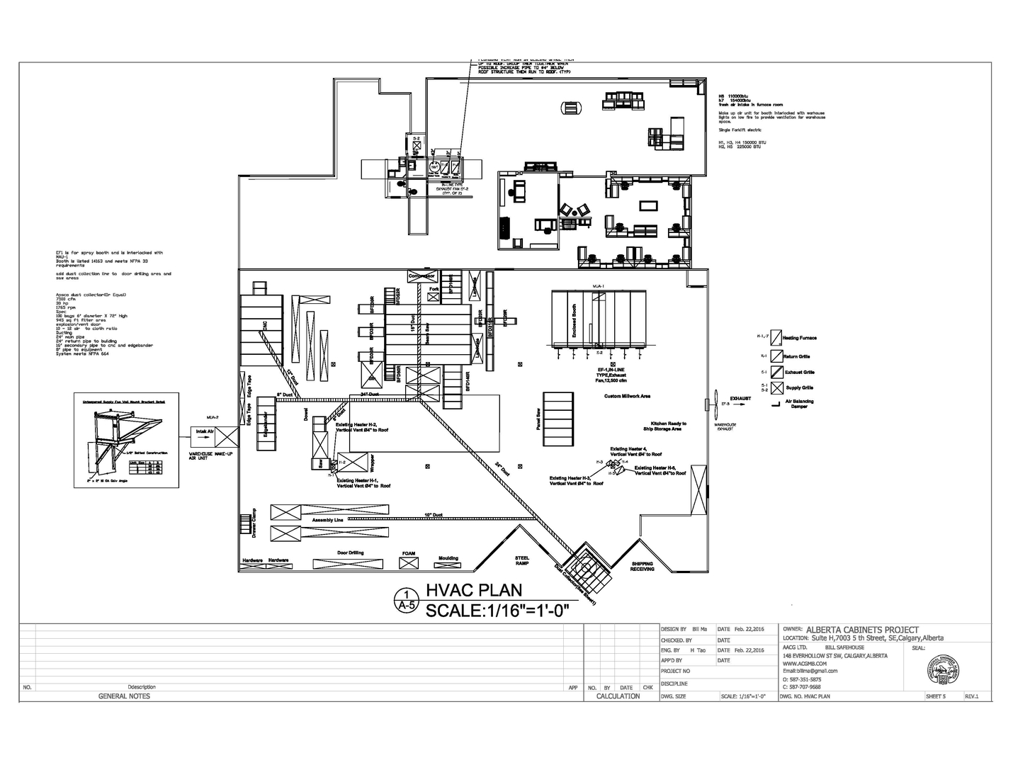 Ductwork Design and Drawings; Fire Protection System