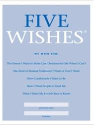 Five Wishes, Advance Directives, Kissimmee wills, saint cloud wills, orlando wills, wills