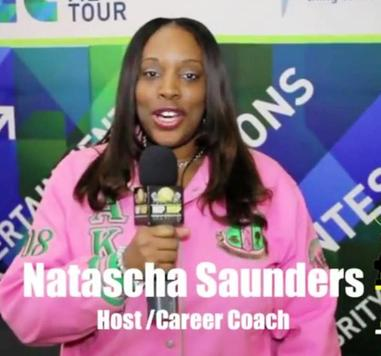 Motivational Youth Speaker and Career Coach, Natascha Saunders UNCF College Tour