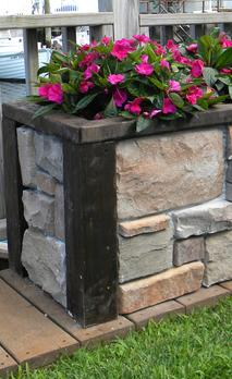 Easy DIY Outdoor and Backyard crafts and projects. Raised Stone Planter. www.DIYeasycrafts.com