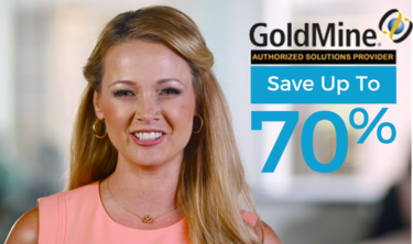 Save up to 70% off GoldMine today!