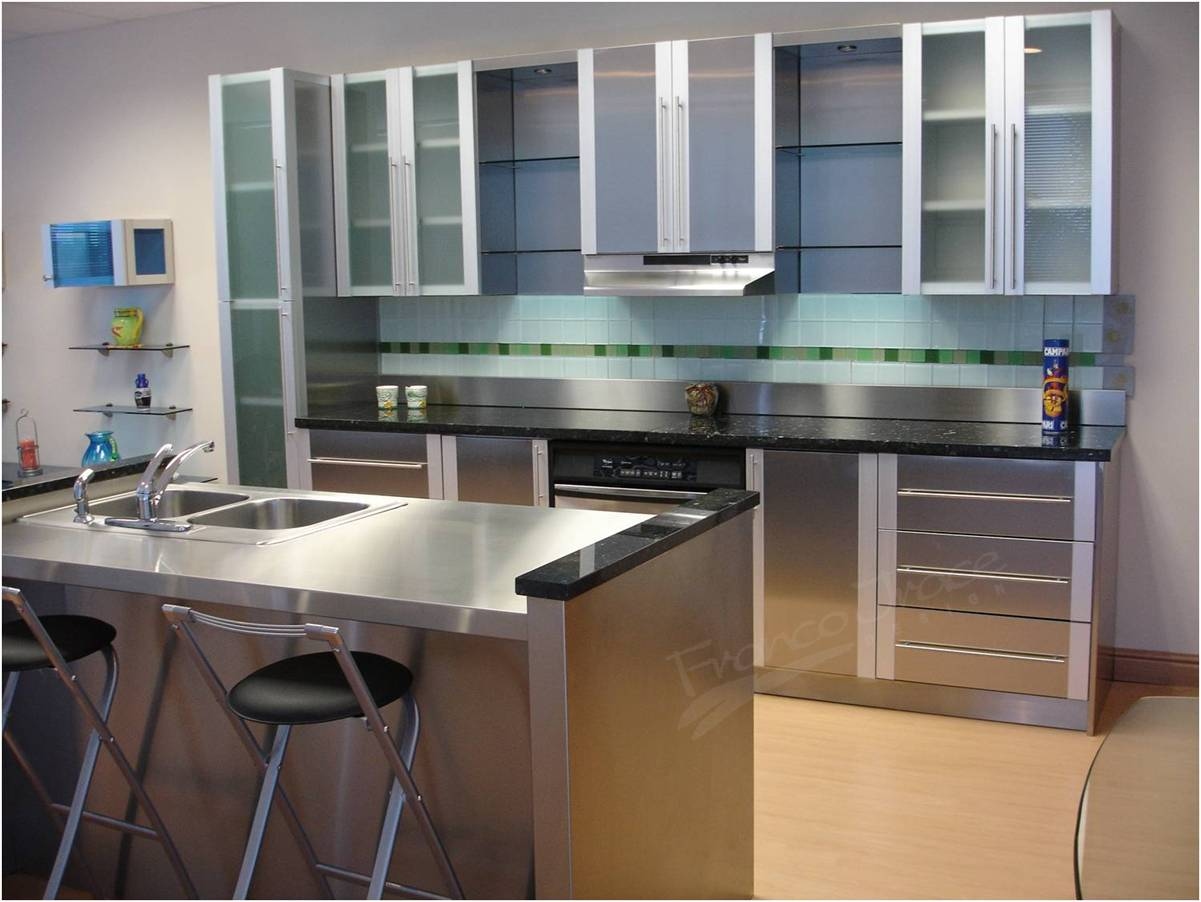 Stainless Steel Kitchen Cabinets Cost Stainless  Steel Kitchen Cabinets