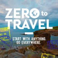 zero to travel logo, link to podcast website