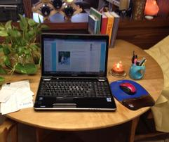 computer, desk, author, write, books, ellie hadsall, cosmic gathering, spiritual, inspiration
