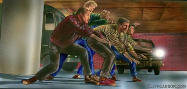WEST SIDE STORY acrylic on board by CLIFF CARSON