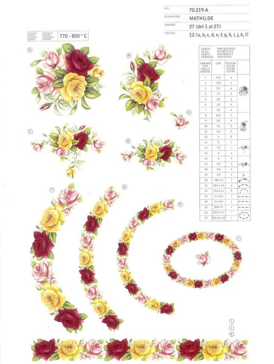 Flower ceramic decals by Calcodecal