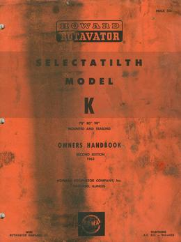Howard Rotavator Model K Brochure