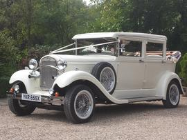 Wedding car hire Essex Brenchley Landaulette