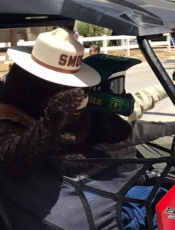 2019 - The Wellmans & Forestry Service even brought Smokey the Bear for an Anza Days visit!