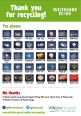 Wiltshire recycling poster