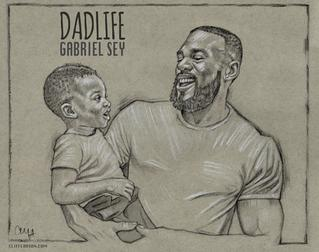 Gabriel Sey drawing by CLIFF CARSON