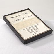 Wedding Invitation, Rustic Lace with Box