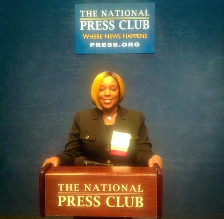 Motivational Youth Speaker and Career Coach, Natascha Saunders at National Press Club