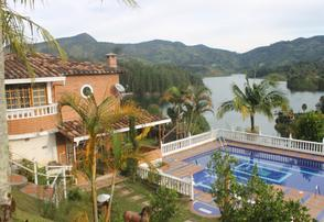 Yoga and Fitness Retreat Villa in the Mountains of Guatape, Antioquia. Colombia, facing a lake in the mountains.