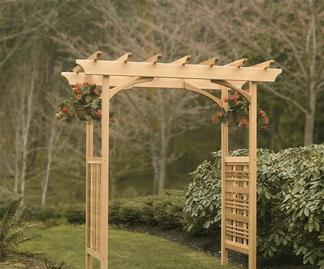 Arbor with subtle decorations