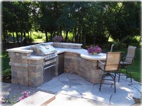 Outdoor kitchen installation in Atlanta Georgia