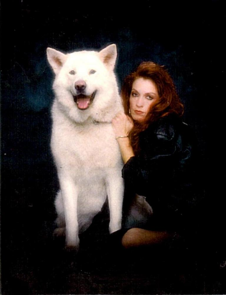 Tia and her wolfdog