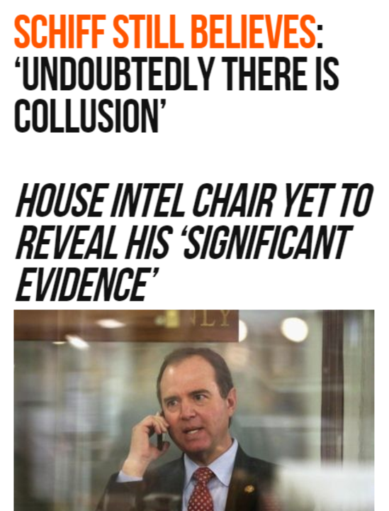 Adam Schiff Still Believes: 'Undoubtedly There is Collusion'
