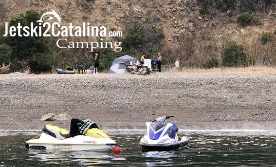 catalina jetski camping remote beaches