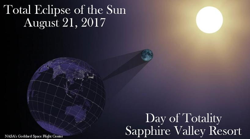 2017 total eclipse of the sun, sapphire valley resort