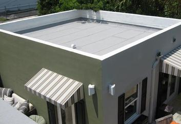 Modified bitumen flat roof