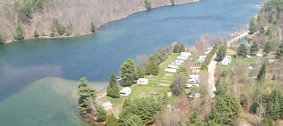Aerial view Canoe Lake Campground 1