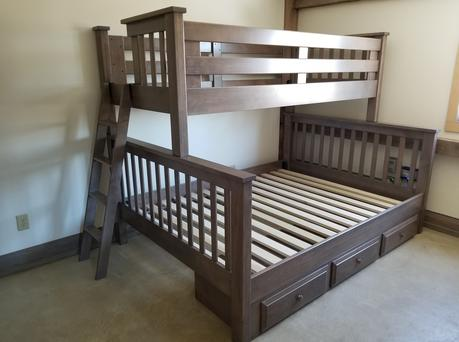 Amish Made Youth Loft Storage Bunk Beds