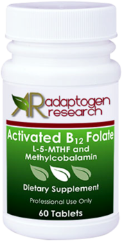 Adaptogen Research, Activated B12 Folate