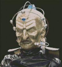 Doctor Who Davros with blaack background