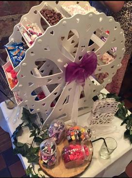 sweet dreams candy cart sweets ferris wheel hire sussex