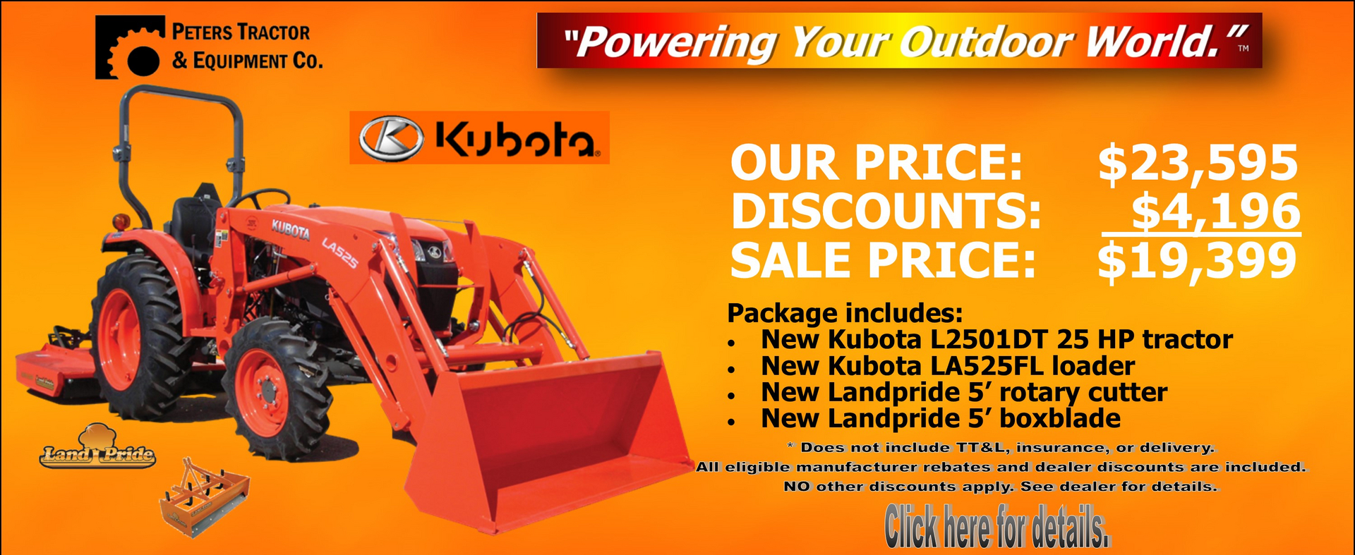 Peters Tractor & Equipment Co  - Kubota Tractor, Lawn Mowers