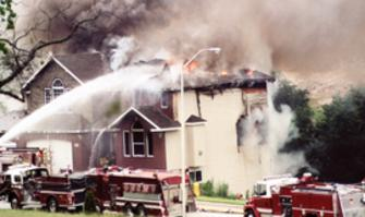 Fire Damaged House Evansville