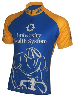 U Health custom bicycle jersey