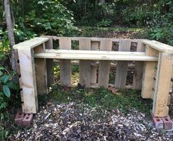 Colby's Army photo of a sustainable pallet bench