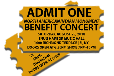 north american indian monument benefit concert tickets