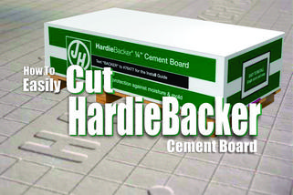 How to cut Hardiebacker cement board. www.DIYeasycrafts.com