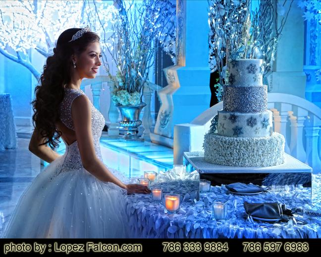 Westin Colonnade hotel Quinces Party Coral Gables cake Winter Wonderland