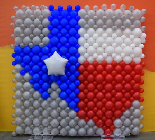 Texas Map Made of balloons