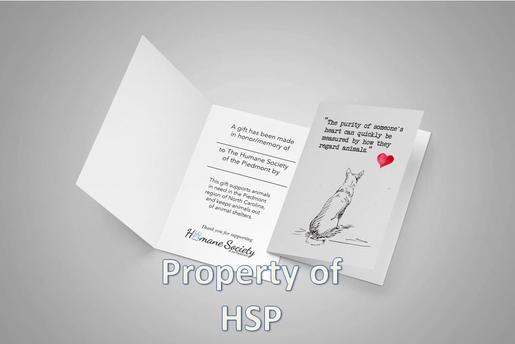 Humane society of the piedmont in greensboro nc honor a person or a pet with our beautiful 2018 honor cards reheart Choice Image