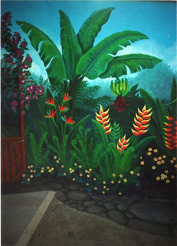 Garden and Pool Murals by Savanna Redman