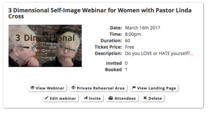 WOMEN - Join Linda's 3-D Self-Image Webinar