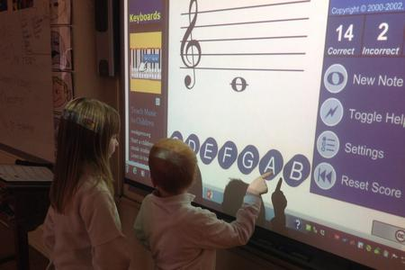 learning music on smartboard
