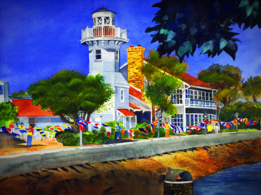Seaport Village, Tracy Harris Watercolor Artist, Limited Edition Giclee Available