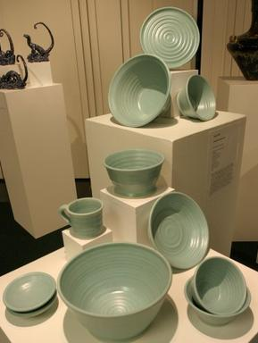 Bowls, plates and mugs by Janice Hill Pottery, hand-thrown, hand-glazed stoneware ceramics.