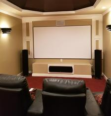 Dedicated Home Theater Room, Charlotte NC Home Theater Installation service, Carolina Custom Mounts